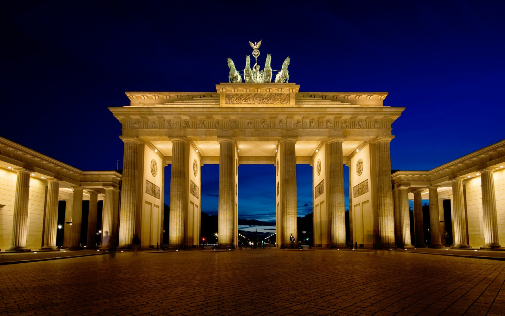 Brandenburg Gate Photo At Night