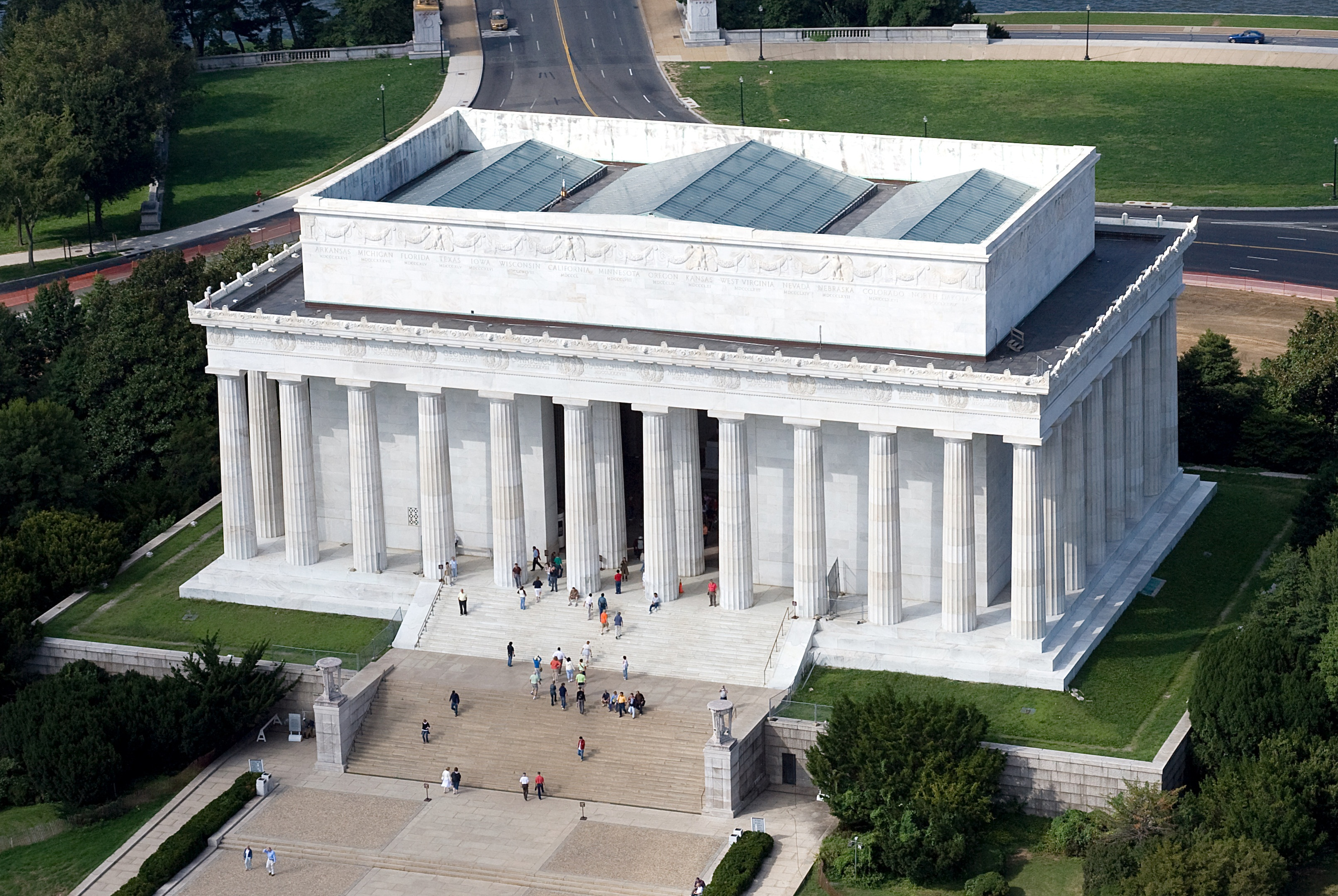 Lincoln Memorial Aerial Photo
