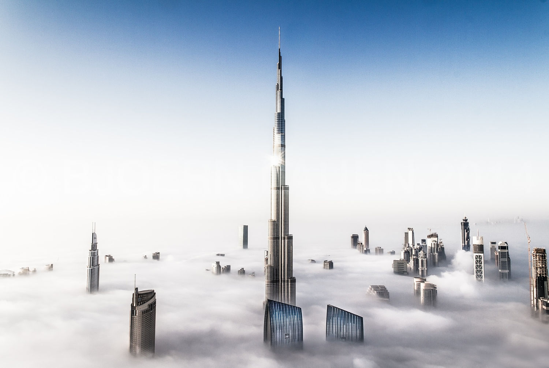 Burj Khalifa Clouds