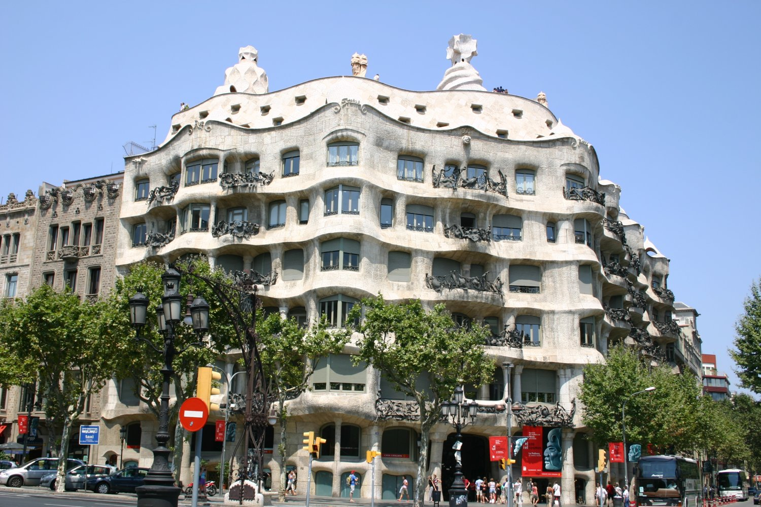 Casa mila cave in the elite area of barcelona - Casas de barcelona ...