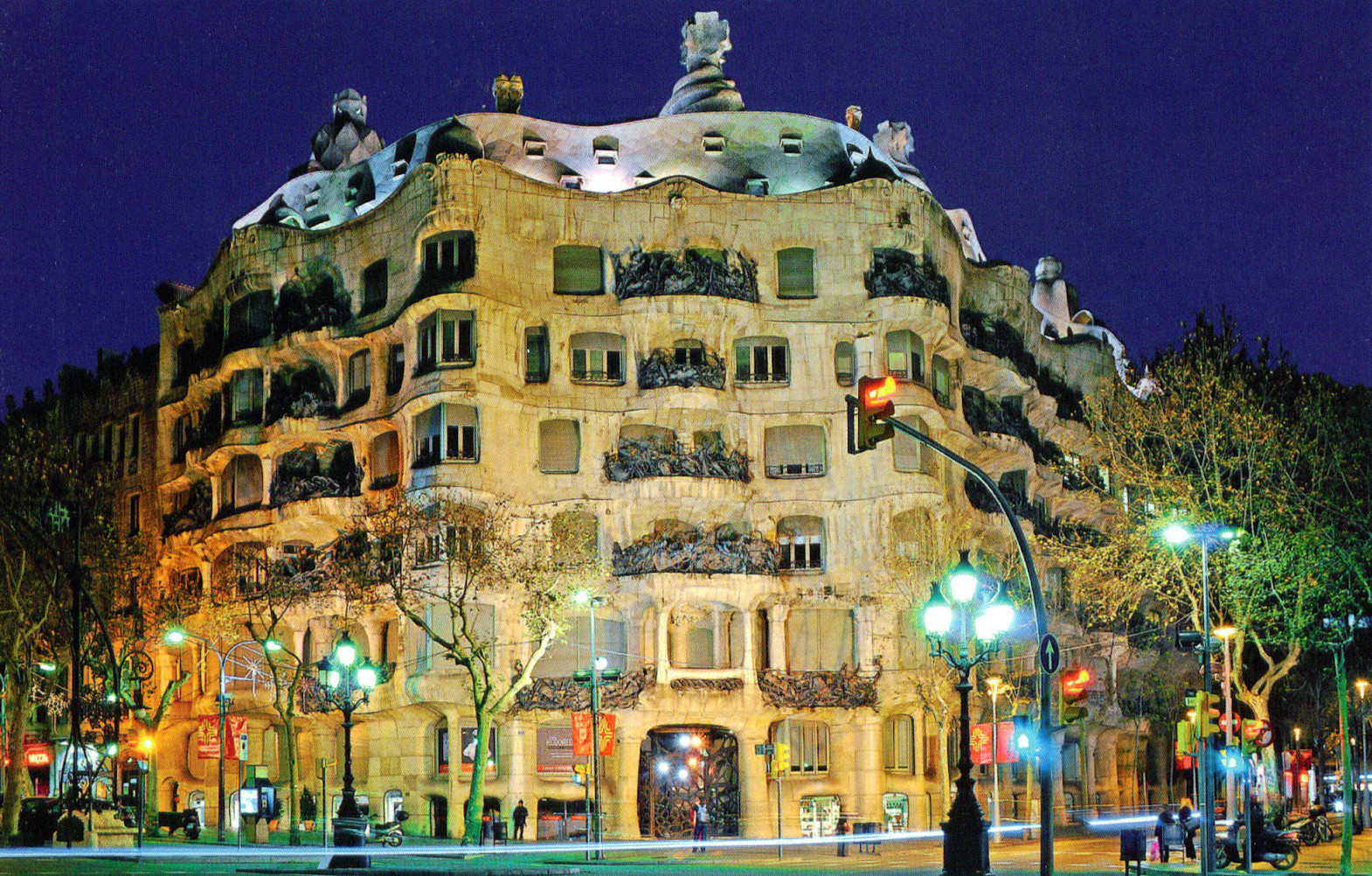 Casa Mila Photo At Night