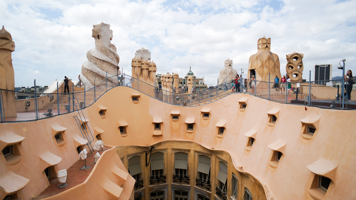 Casa Mila Roof Pictures