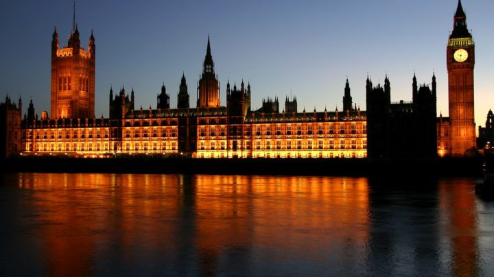 Houses of Parliament At Night Photo