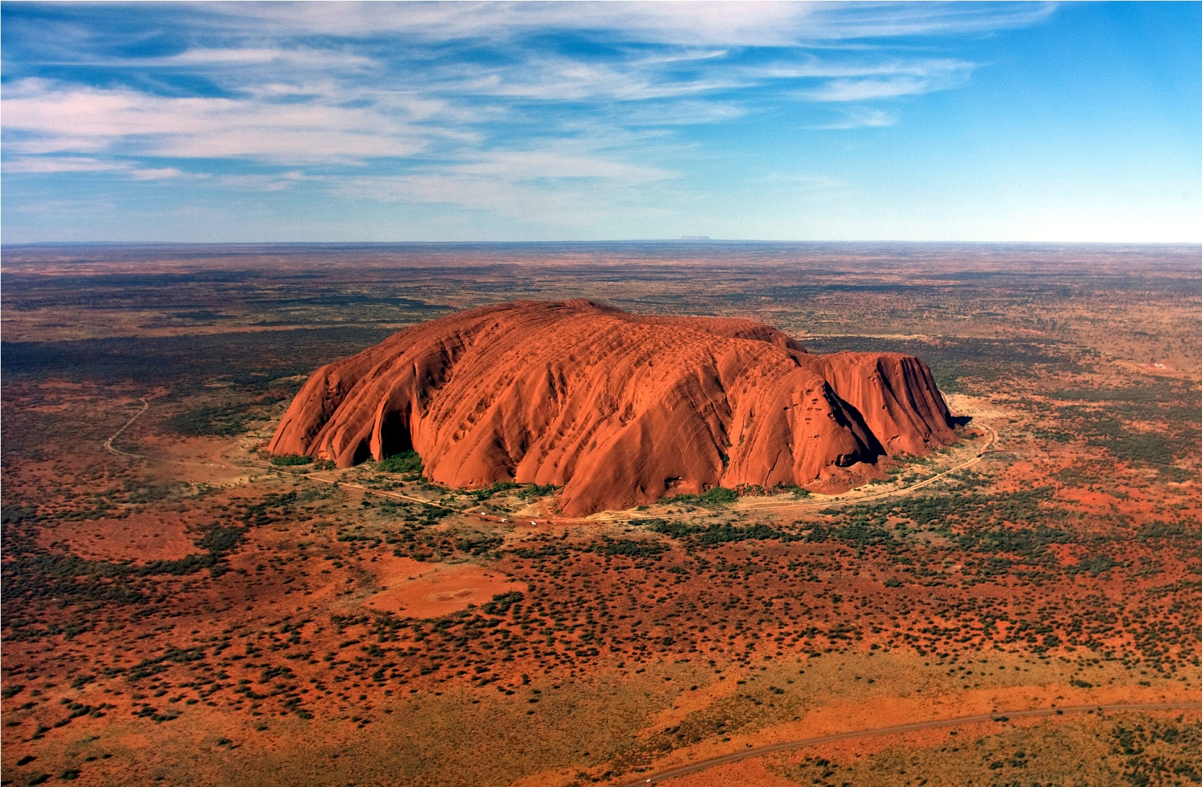Uluru View From Helicopter