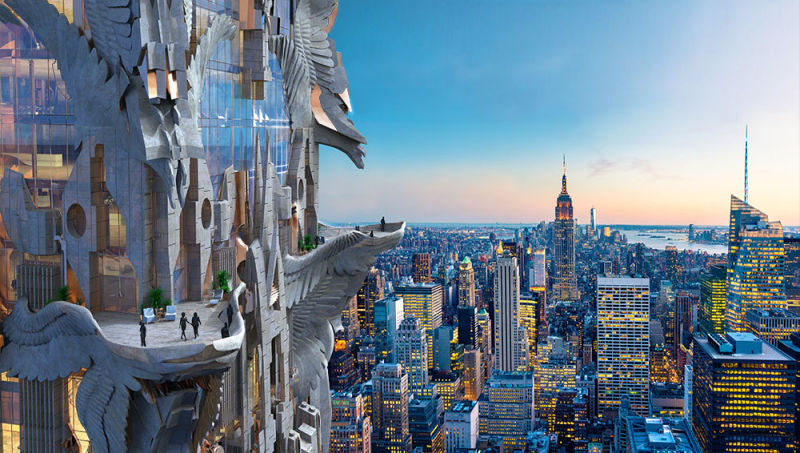 Chrysler Building Eagles Photo