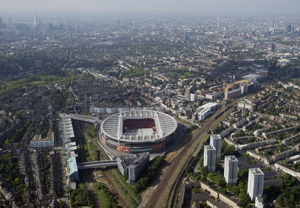 Emirates Stadium Aerial View