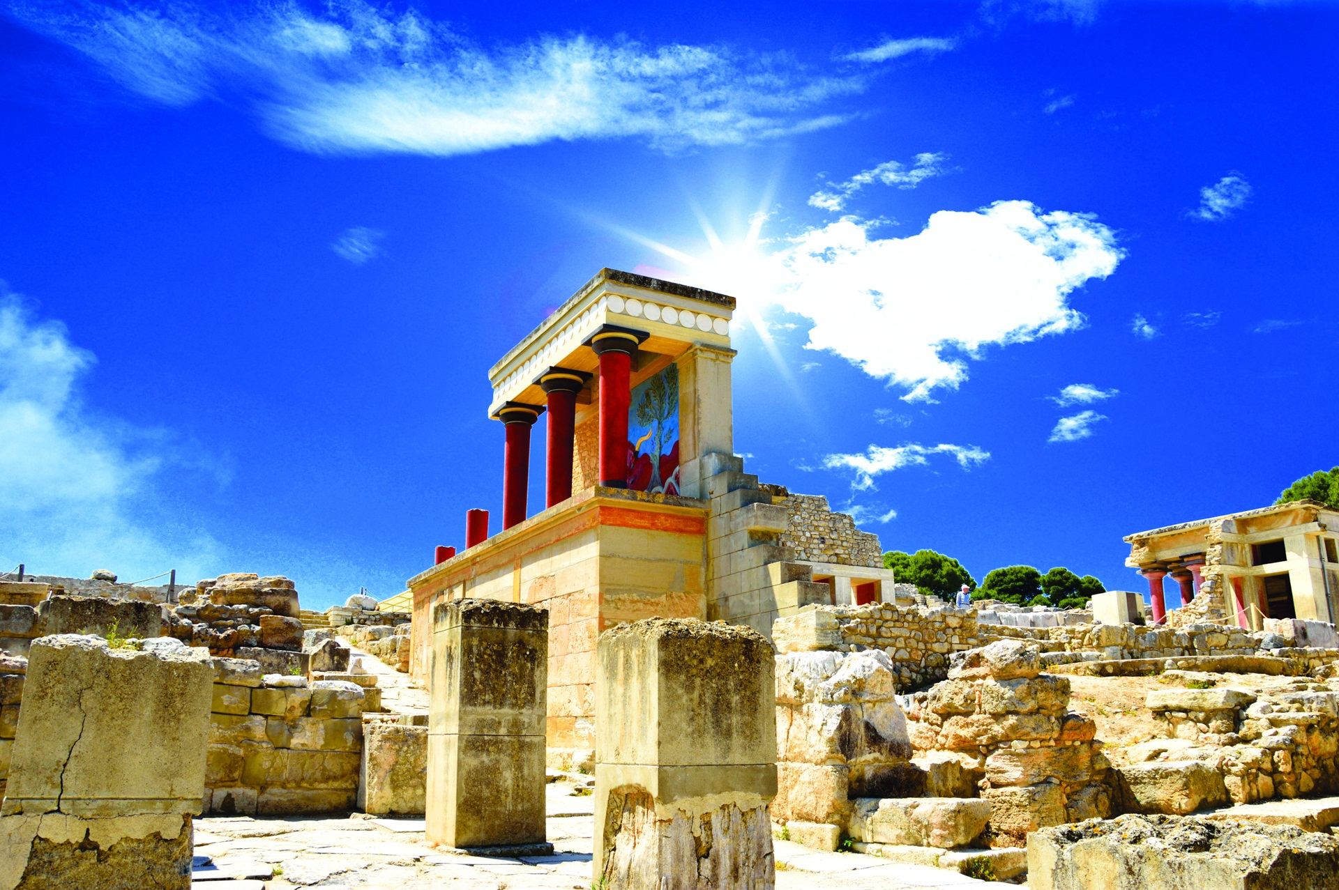 Knossos Crete Beautiful Photo