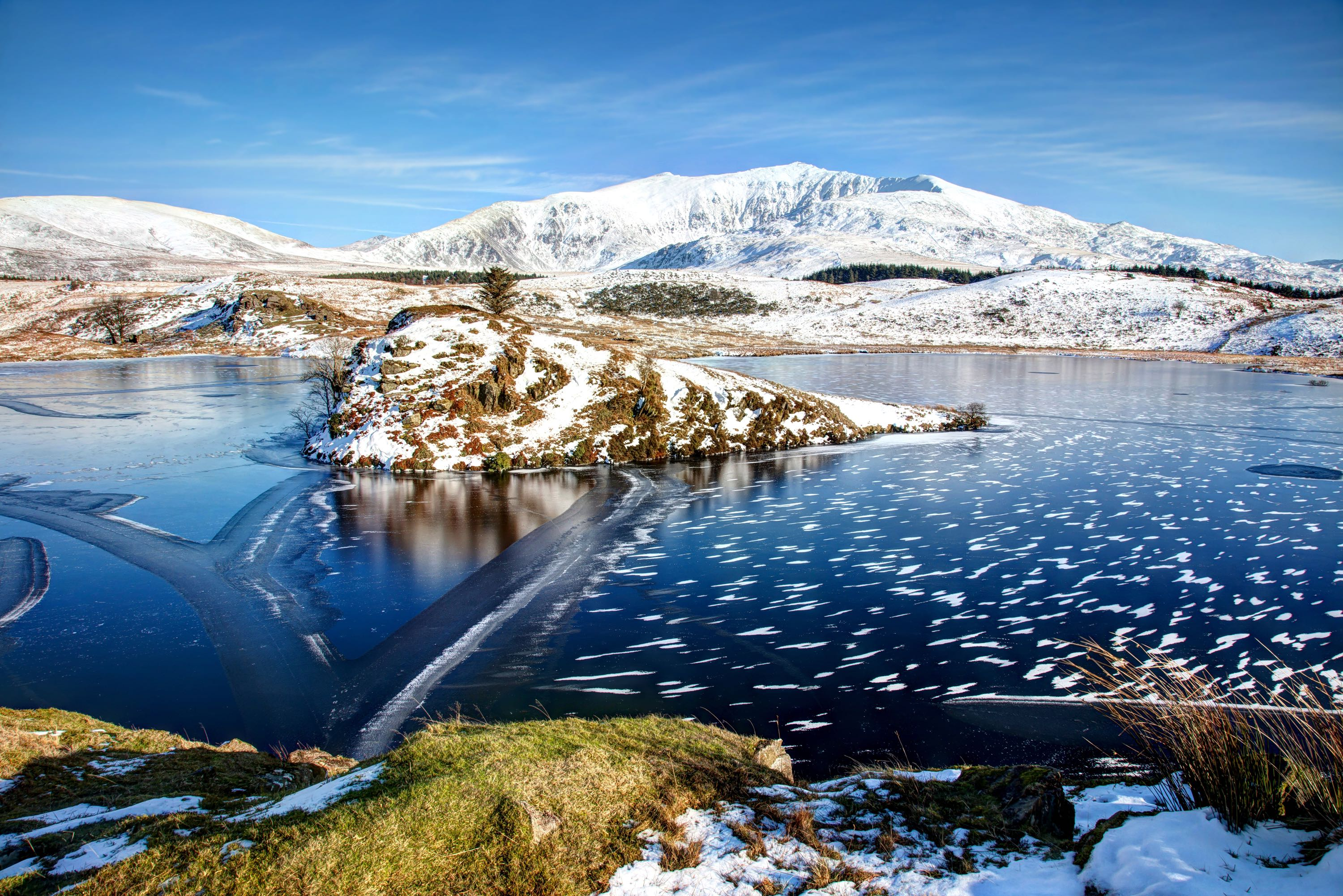 Snowdonia National Park Wales in Winter