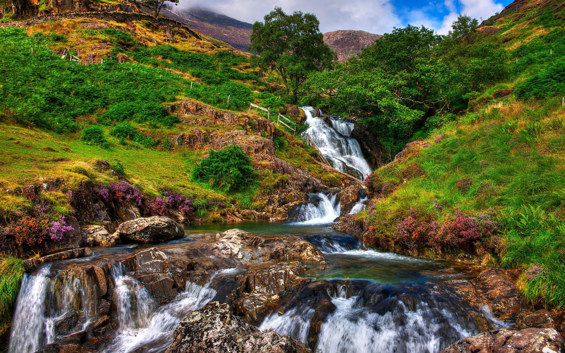 Snowdonia National Park Waterfall Photo