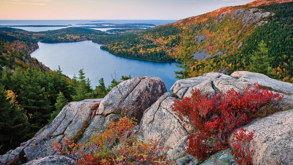 Acadia National Park Beautiful Panorama Maine USA