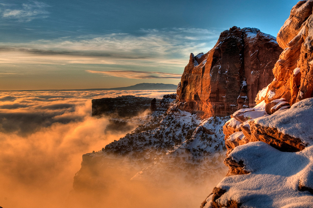 Canyonlands National Park At Winter