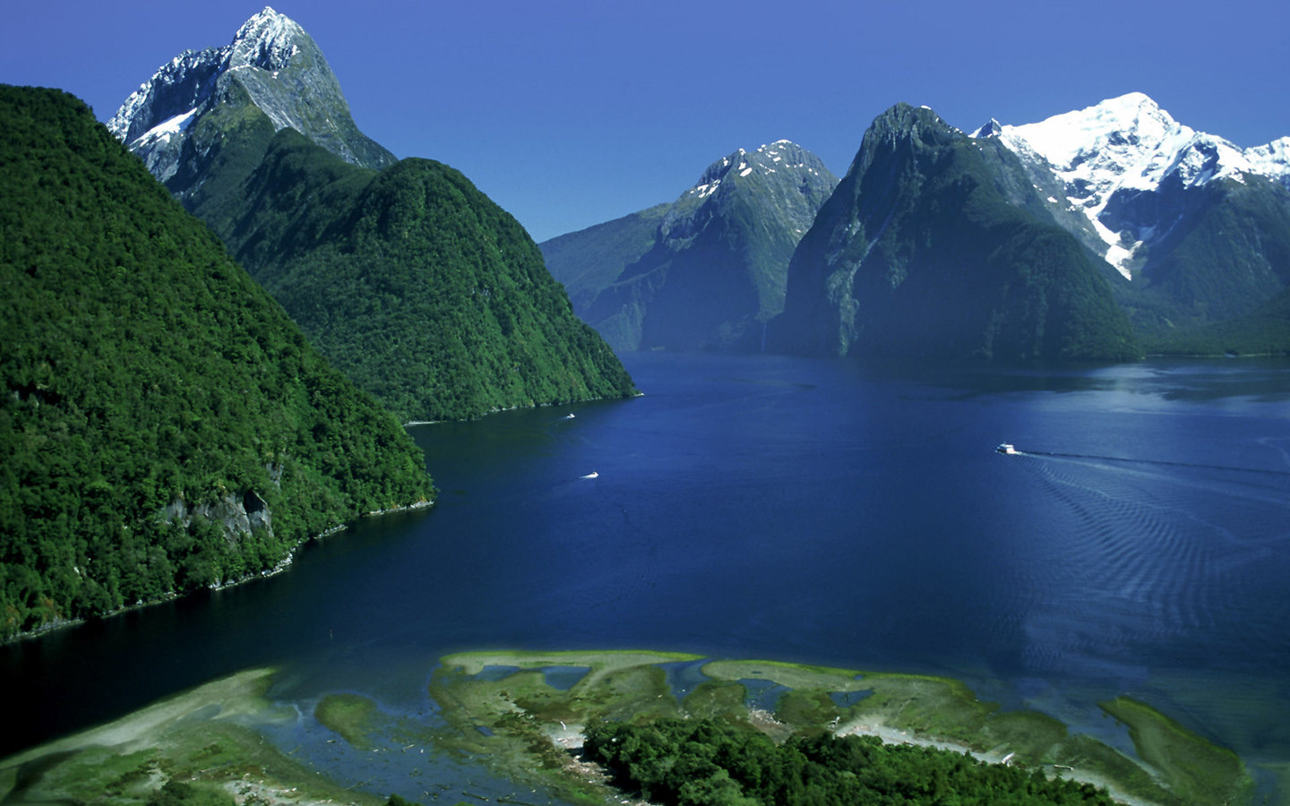 Fiordland National Park New Zealand Aerial View