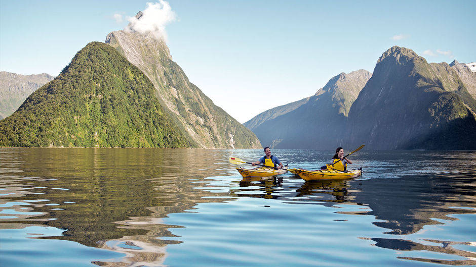 Fiordland National Park New Zealand Kayaking Photo