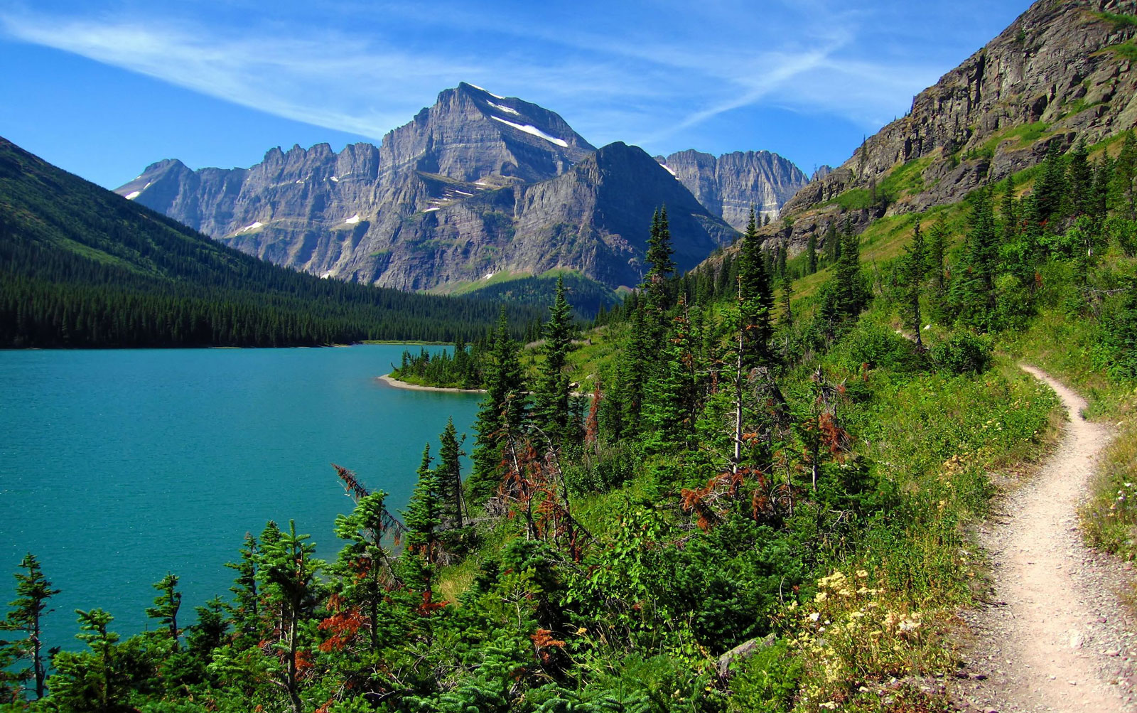 Glacier National Park Hike Path Photo