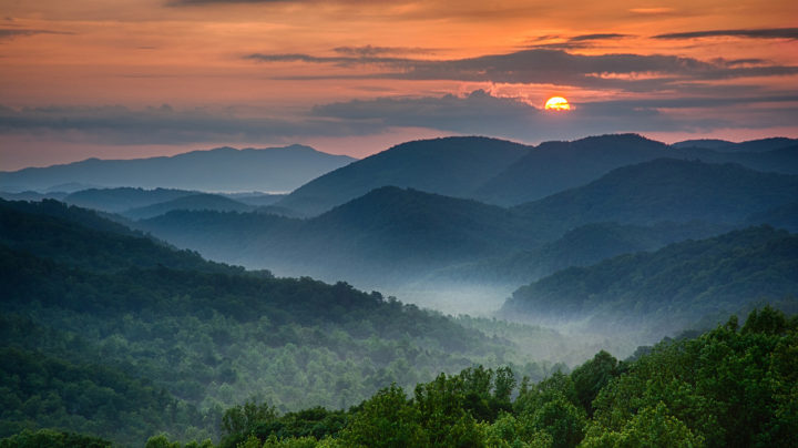 Great Smoky Mountains National Park Photo At Sunset