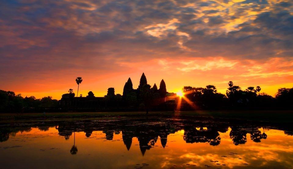 Angkor Wat Sunset Photo